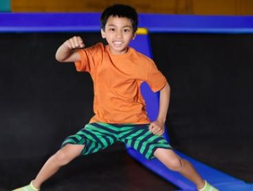 2-Hr Trampoline and Ninja Warrior Course Entry: 1 ($15) or 4 Ppl ($50) at Sky High Indoor Trampoline Park (Up to $76)