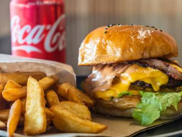 Gourmet Burger, Chips and Drink Combo from Wonky Trolley in North Melbourne - Save 50%!