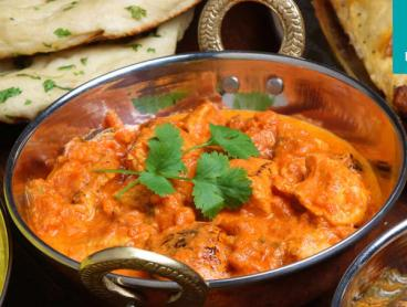 Save up to 72% on a Three-Course Authentic Indian Meal with Desserts, Sides and Wine