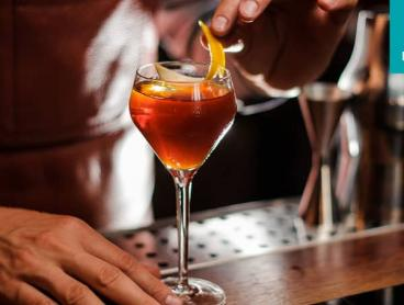 Credit for Bar Food, Cocktails, Wine and More in the CBD