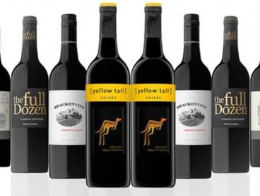 Dozen Mixed Aussie Reds Including Yellow Tail, Delivered