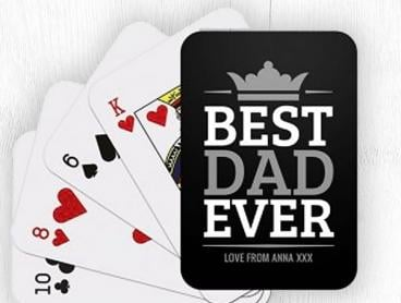 Personalised Playing Cards - Perfect Father's Day Gift Idea!