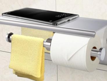 From $15.95 for One or Two Stainless Steel Toilet Paper Roll Holders in a Choice of Two Styles