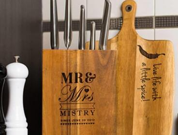 Complete Your Kitchen with a Personalised Wooden Knife Block