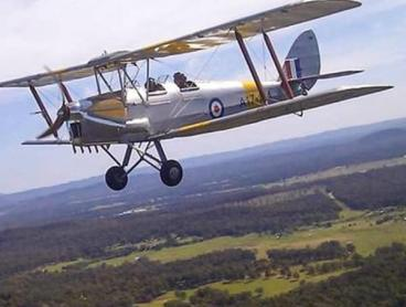 Fly Over the Hunter Valley in an Iconic Tiger Moth Biplane