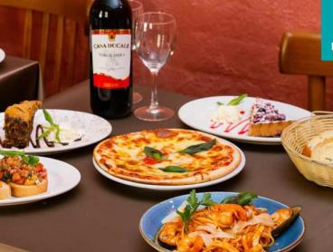 Authentic Three-Course Italian Dining with Wine in The Rocks