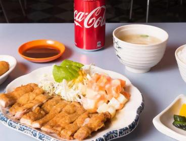 Japanese Meal Set with Spring Rolls and Drink in the CBD