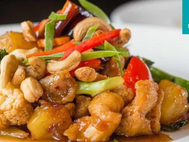 Authentic Five-Dish Chinese Feast with Wine in Malvern