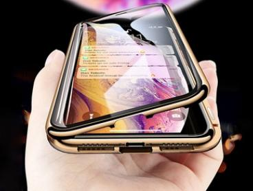$14 for 360° Full Magnetic Adsorption Metal Flip 9H Glass Back Case for iPhone
