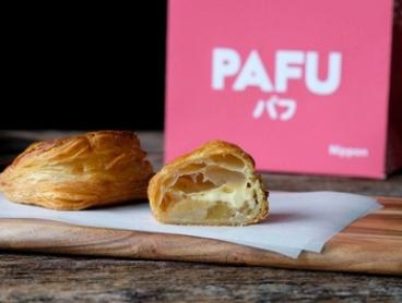 Box of 4 Apple or Strawberry ($12.90) or Coffee & Chocolate or Chicken & Cheese ($14.90) Puff Pastries Five Locations