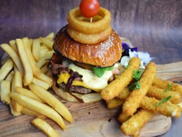 Burger and Pint of Beer for One ($12), Two ($24) or Four People ($48) at Dat Place (Up to $96 Value)