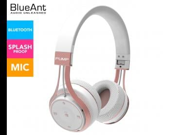 BlueAnt Pump Soul On-Ear Wireless Headphones - White/Rose Gold