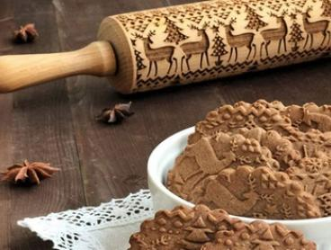 Christmas Embossed Rolling Pin: One Small ($15), One Big ($19) or Both ($29)