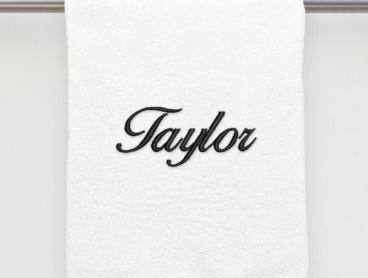 Create Your Own Bath Towel with Personalised Embroidery