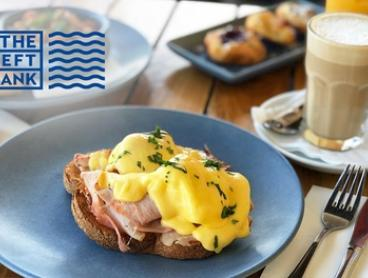 Breakfast and Coffee for 1 ($16) or 2 ($31) or Mimosa for 1 ($19) or 2 People ($35) at The Left Bank (Up to $55 Value)