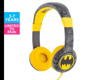 Batman Signal Kids Headphones - Grey/Yellow