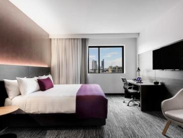 Perth: One or Two Nights for Two People with Late Check-Out, Breakfast and Option for Wine at Groupon Mystery Hotel