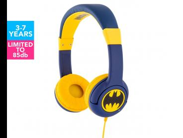 Batman Caped Crusader Kids Headphones - Navy