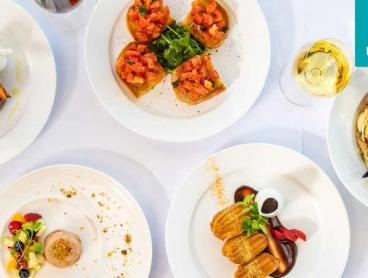 Waterfront Two-Course Italian Feast with Wine in Main Beach