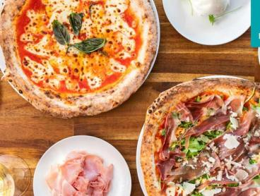 Multi-Dish Pizza Feast with Wine and Views in Main Beach