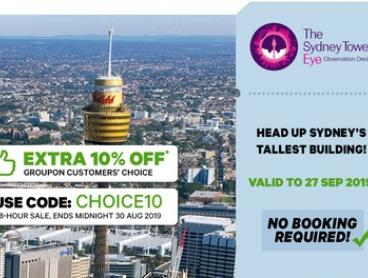 Sydney Tower Eye Entry: Child Aged 3-15 ($16) or Adult Entry ($23.20) (Up to $29 Value)