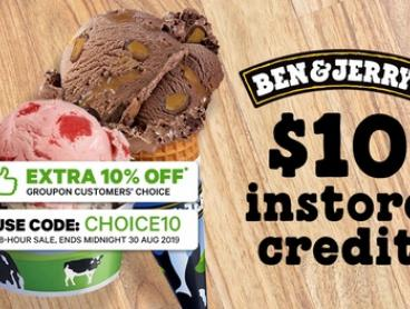 $5 for $10 or $10 for $20 Toward Ice Cream, Shakes or Brownies at Ben & Jerry's, Four Locations