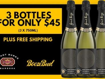 Boozebud: Grant Burge Sparkling Wine (750mL) 3 Bottles ($45) or 6 Bottles ($79) (Don't Pay up to $130) + Free Shipping!
