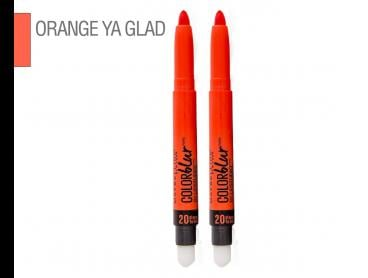2 x Maybelline Color Blur Matte Pencil Lipstick 1.25g - #20 Orange Ya Glad