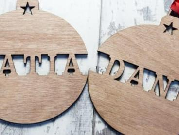 Personalise Your Own Wooden Ornaments This Christmas