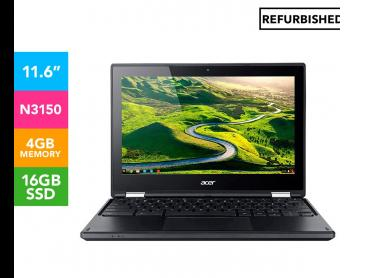 Acer 11.6-Inch Chromebook R11 Touch Laptop REFURB - Black