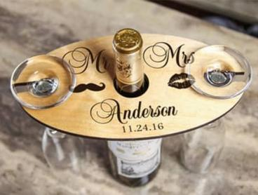 Personalise a Wine Caddy with Glass Holder