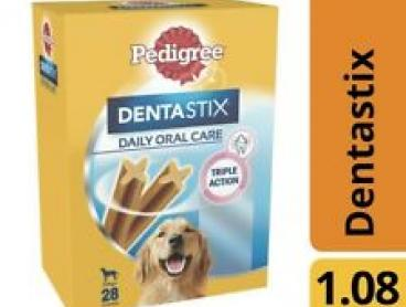 Pedigree Dentastix Large Dog Treats Daily Oral Care Dental Chew 28 pack