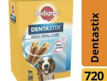 Pedigree Dentastix Medium Dog Treats Daily Oral Care Dental Chews 28 pack