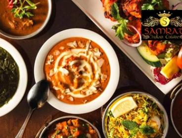 3-Course Meal with Sides & Drinks for 2 ($29), 4 ($55) or 6 People ($79) at Samrat Indian Cuisine (Up to $276.15 Value)